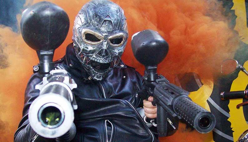 Terminator with Paintball Guns