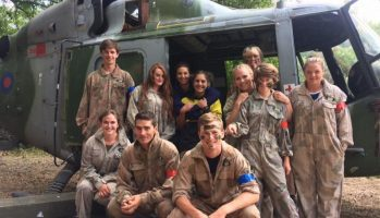 Players at Paintballing Kegworth with Helicopter