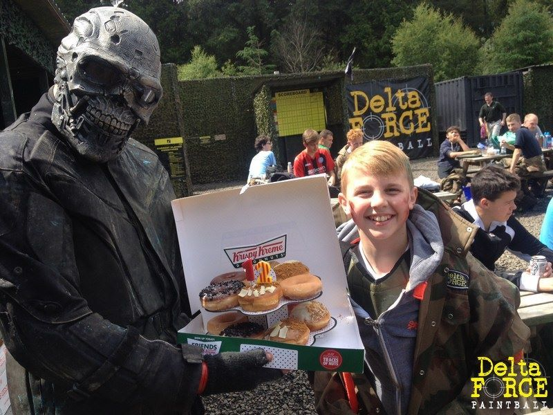 terminator holding cake