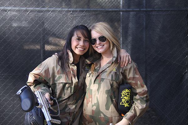 Delta Force paintball girls