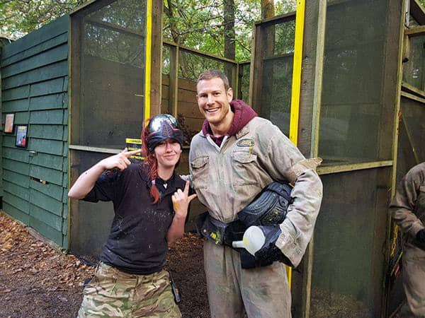 Dickon Tarly at Delta Force paintball