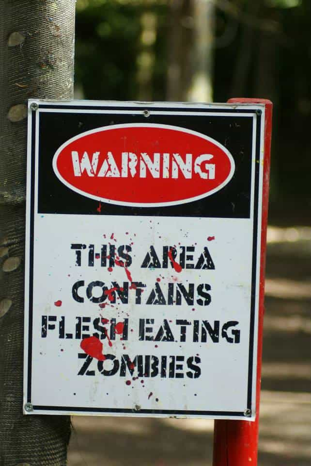 warning area contains zombies