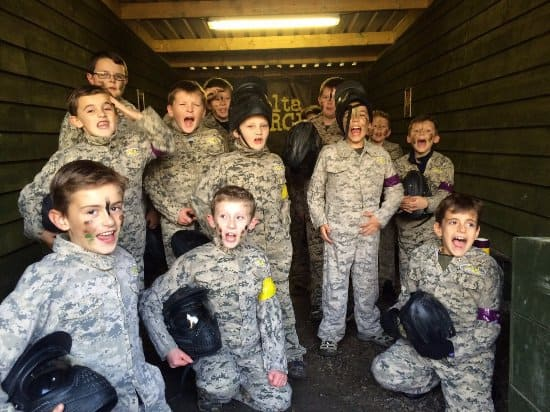kids school paintball
