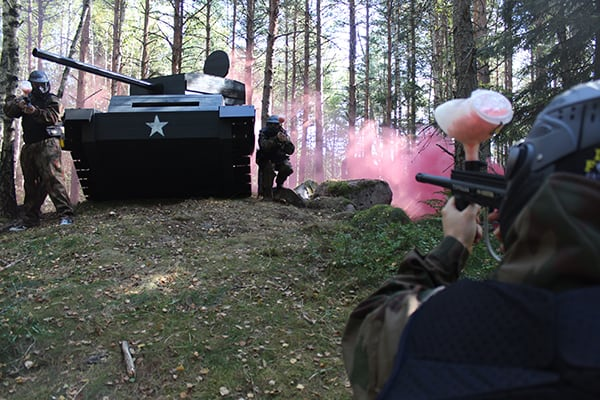 paintball team game