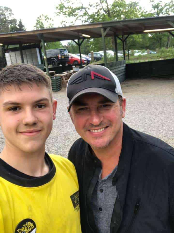 Shane Richie at Delta Force Paintball Crawley