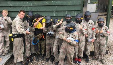 Shane Richie Paintball Party